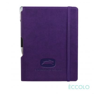 Eccolo® Tempo Journal/Clicker Pen - (M) Purple