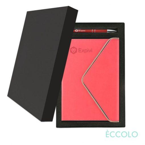 Eccolo® Waltz Journal/Clicker Pen Gift Set - (M) Coral