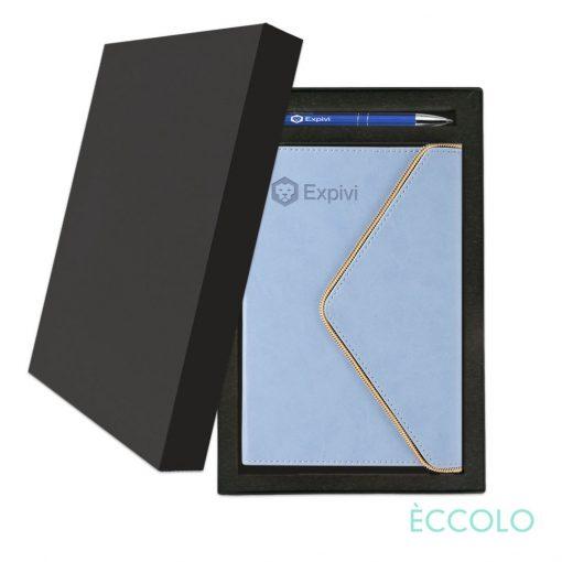 Eccolo® Waltz Journal/Clicker Pen Gift Set - (M) Periwinkle
