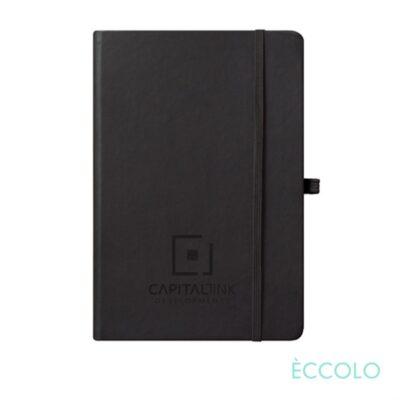 "Eccolo® Cool Journal - (M) 5¾""x8¼"" Black (Graph Paper)"