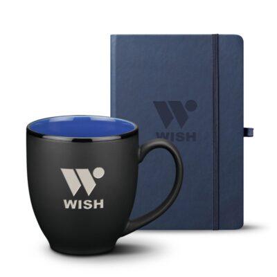 Eccolo® Cool Journal/Dereham Mug Set - Blue