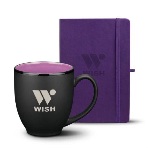 Eccolo® Cool Journal/Dereham Mug Set - Purple