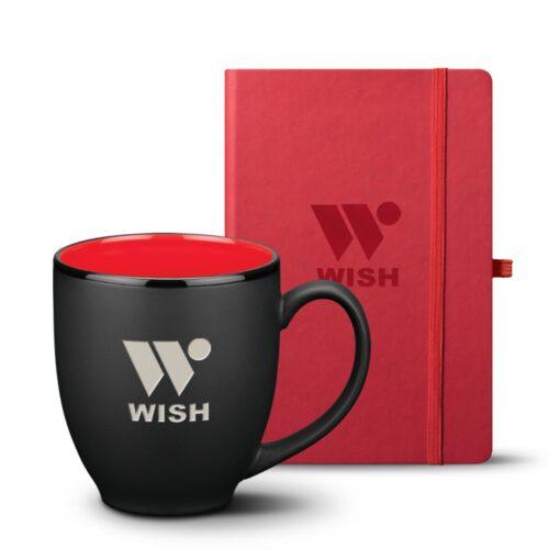 Eccolo® Cool Journal/Dereham Mug Set - Red