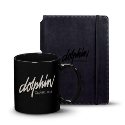 Eccolo® Tempo Journal/Malibu Mug Set - Black