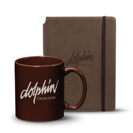 Eccolo® Tempo Journal/Malibu Mug Set - Brown