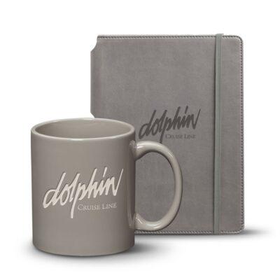 Eccolo® Tempo Journal/Malibu Mug Set - Gray