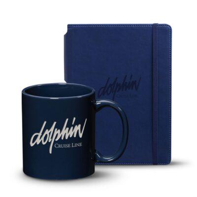 Eccolo® Tempo Journal/Malibu Mug Set - Navy Blue