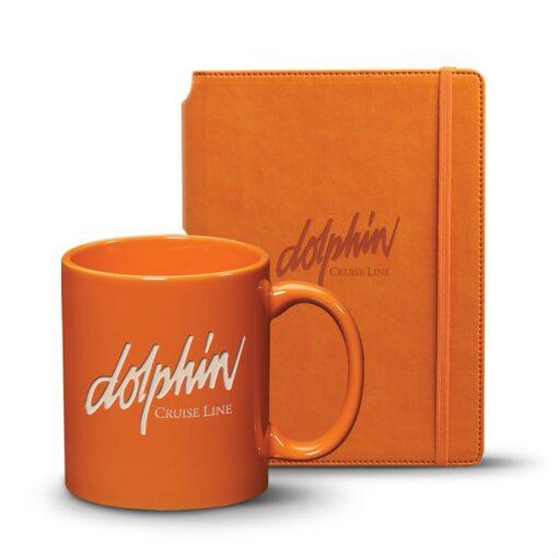 Eccolo® Tempo Journal/Malibu Mug Set - Orange