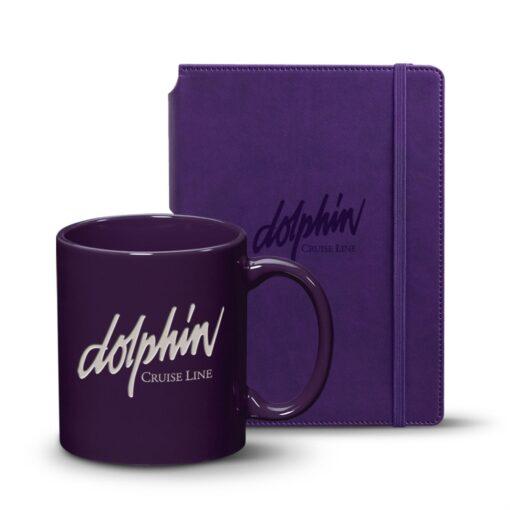 Eccolo® Tempo Journal/Malibu Mug Set - Purple